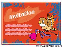 Oiseau image gratuite - Invitation cliparts
