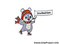 Patins à glace pingouin clip art gratuit – Invitation images