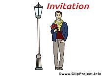 Rendez-vous clip art gratuit - Invitation dessin