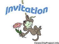 Singe clipart gratuit - Invitation images