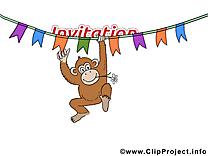 Singe invitation image à télécharger gratuite