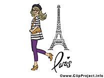 Tour Eiffel clipart gratuit - Invitation images
