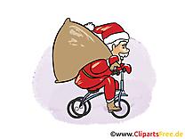 Bicyclette père noël image – Saint Nicolas images cliparts