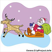 Luge renne images - Noël dessins gratuits