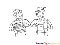 Amis image à imprimer - Oktoberfest illustration