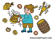 Bière illustration gratuite - Oktoberfest clipart