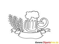 Blé clipart gratuit - Oktoberfest coloriage
