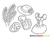 Blé dessin à imprimer - Oktoberfest images