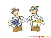 Chope clip arts gratuits - Oktoberfest illustrations