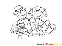 Chopes image à colorier oktoberfest  gratuite