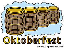 Clip arts gratuits Oktoberfest  illustrations