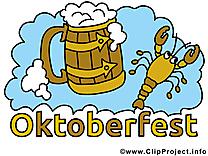 Écrevisse bière dessins gratuits - Oktoberfest clipart