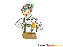 Oktoberfest clipart gratuit - Homme images