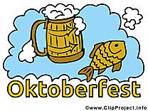 Poisson bière image gratuite - Oktoberfest illustration