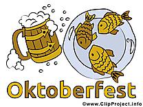 Poissons bière dessin gratuit - Oktoberfest image