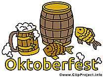 Poissons bière illustration à télécharger gratuite