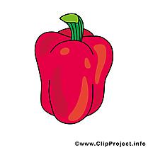 Paprika illustration gratuite - Légume clipart