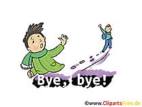 Adieu image  cliparts gratuits