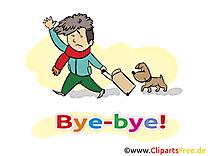 Chien garçon clip arts gratuits - Adieu illustrations