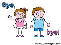 Enfants adieu image à télécharger gratuite