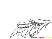 Fleurs dessin à imprimer - Adieu image
