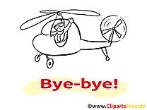 Hélicoptère dessin - Adieu à télécharger