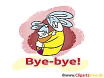 Lapins image gratuite - Adieu illustration