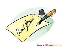 Lettre clip art gratuit – Adieu images