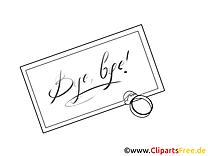 Lettre clipart à imprimer - Adieu images