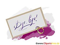 Lettre image gratuite - Adieu cliparts