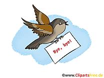 Moineau clip arts gratuits - Adieu illustrations