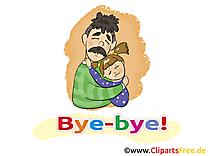 Papa fille images - Adieu dessins gratuits