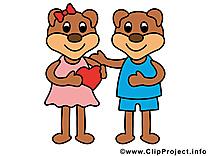 Amoureux ours dessins gratuits clipart