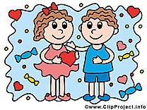 Enfants dessin à télécharger - Amoureux images