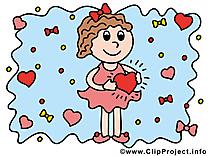 Fille clip art gratuit – Amoureux images