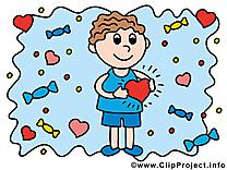 Garçon image - Amoureux images cliparts