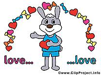 Lapin clipart - Amoureux dessins gratuits
