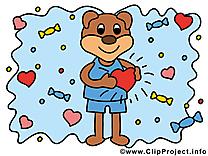 Ours amoureux image à télécharger gratuite