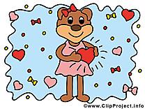 Ours images - Amoureux dessins gratuits