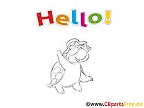 Dessin à colorier tortue - Salut images