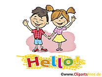 Enfants clip art gratuit – Salut images