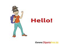 Femme dessins gratuits - Salut clipart