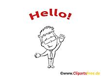 Image gratuite à colorier homme – Salut clipart
