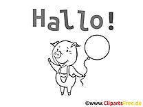 Images gratuites cochon à imprimer – Salut clipart