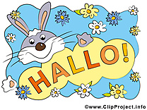 Lapin illustration - Salut images