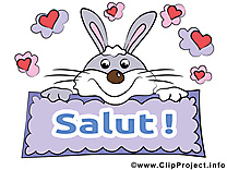 Lapin images - Salut clip art gratuit