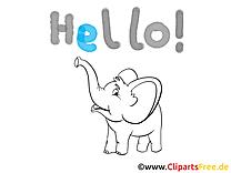 léphant cliparts à imprimer  - Salut images