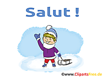 Luge image gratuite - Salut illustration