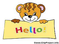 Tigre cliparts gratuis - Salut images