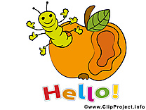 Ver pomme clip art gratuit - Salut dessin